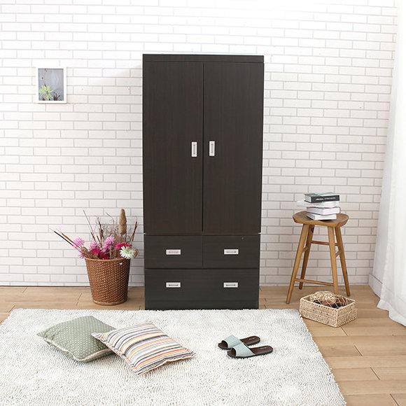 【熱賣】【MIT】3X6三抽衣櫃-胡桃色-18048-WAB - 衣櫃,衣櫃3尺
