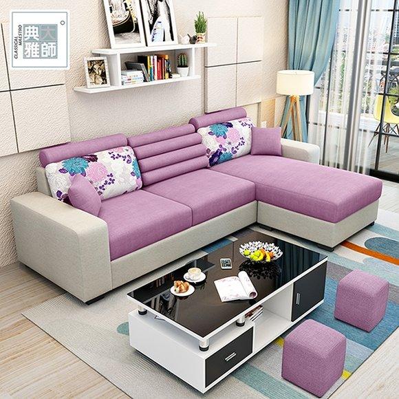 考尼特L型布沙發