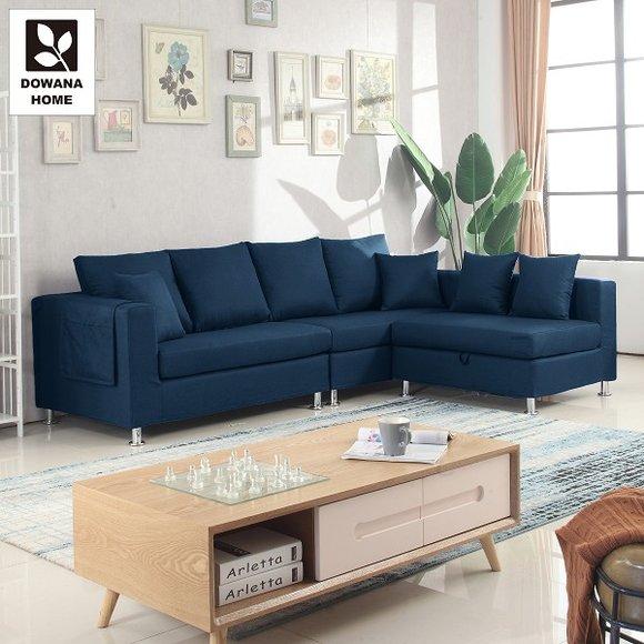 馬尼安L型布沙發